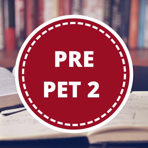 Inglés PRE PET 2 - 3er año