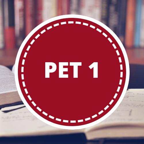 Inglés PET 1 - 5to